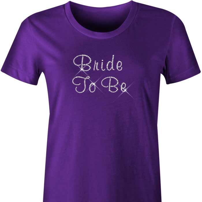 Bride To Be Diamante TShirt / Singlet