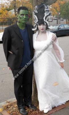 Homemade Frankenstein and Bride Costume