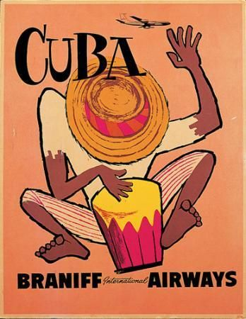 Vintage Braniff - Cuba (this one's for you Mr. Bear)