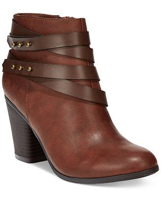 Material Girl Mini Strapped Booties, Only at Macy's - All Women's Shoes - Shoes - Macy's