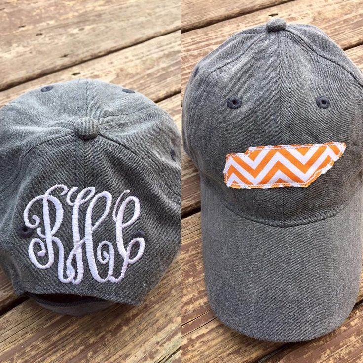Tennessee Hat Raggy Applique and Monogram State Hats