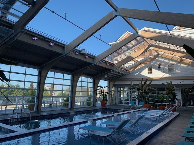Hotel Lbi Retractable Skylight Manufactured By Roll A Cover