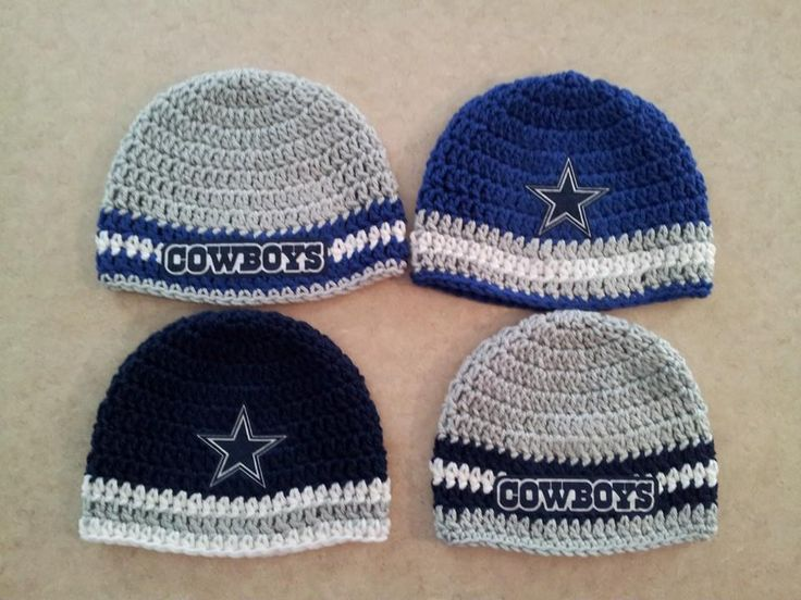 Crochet Dallas Cowboys beanies  https://www.facebook.com/TiffanyVictoriasCreations  https://www.etsy.com/shop/TVictoriasCreations