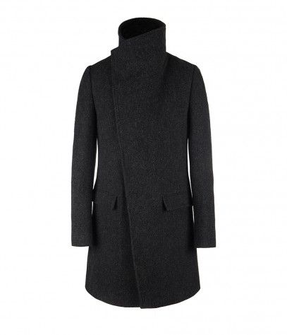 compton coat - grey marl by all saints