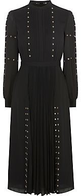 Karen Millen Fashion Eyelet Dress, Black