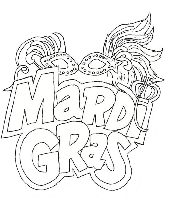 mardi gras printable coloring pages - photo#23