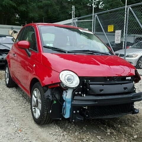 #salvage #forsale 2017 #fiat #500 #pop #california #cali  www.bidgodrive.com #exotic #luxury #italia #italiancar #eco #economy #car #cute #europa #miami #nyc #vegas