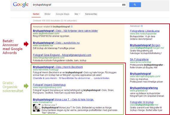 Hva er Google AdWords?  Det er to hovedmåter å være synlig i Google på. Den ene er i (det organiske) søkeresultatet, den andre er gjennom annonser. Dette innlegget handler om å være synlig i Google gjennom annonser, med annonseverktøyet Google AdWords.