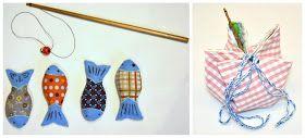 Fische nähen selber Spiel Magnetfischen Teich DIY Kinderküche Lebensmittel Essen