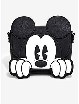 7451ba9eb32 Loungefly Disney Mickey Mouse Die-Cut Crossbody Bag - BoxLunch Exclusive