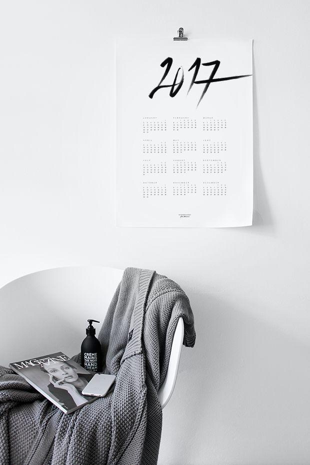 MA MAISON BLANCHE Calendar 2017 | Calligraphy & Minimalistic typography…