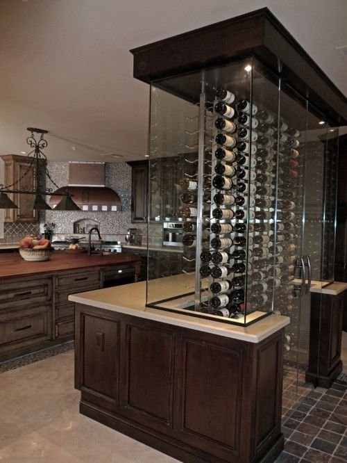 wine lovers kitchen...this would be a cool conversation piece in the kitchen !!!