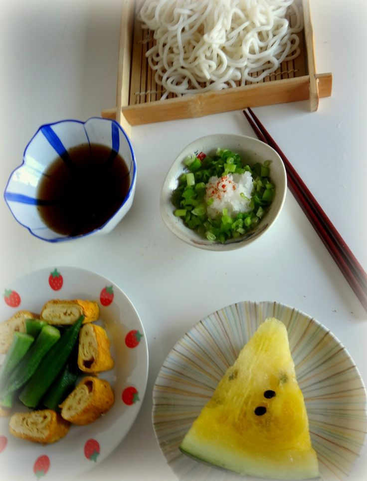 206 best japanese vegetarian food images on pinterest japanese oroshi udon noodle lunch with tamago yaki and cream water melon as side dishes forumfinder Choice Image