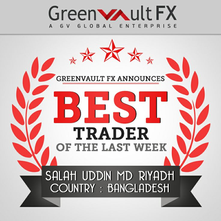 We're excited to announce Mr.Salah Uddin Md Riyadh from Bangladesh as the best trader of last week.