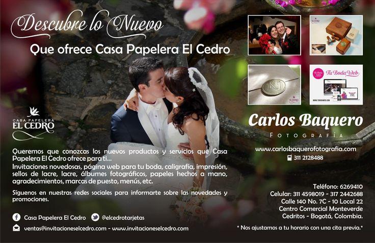 Tarjetería Exclusiva para #bodas Casa Papelera El Cedro www.invitacioneselcedro.com
