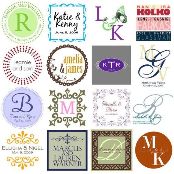 Customized monograms for weddings couples bar mitzvahs by valie520, $8.00