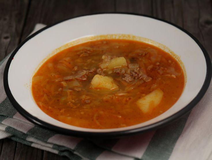 Supa de varza cu carne tocata