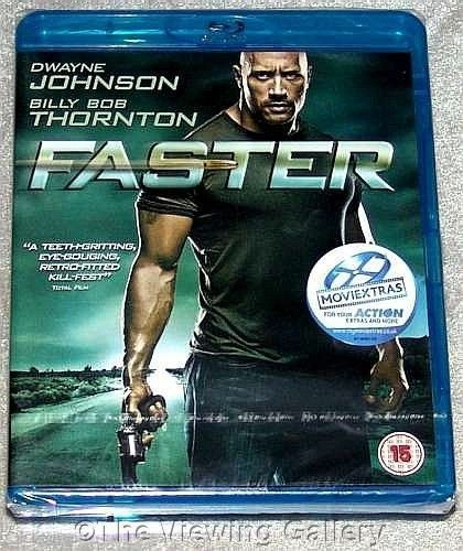 FASTER Dwayne Johson BLU-RAY Billy Bob Thornton REGION FREE Maggie Grace NEW