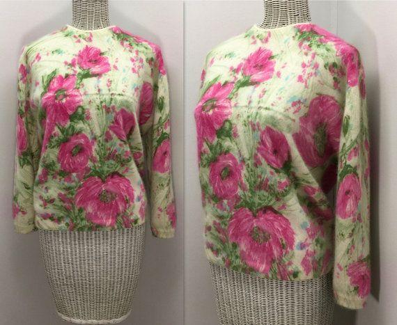 1950s Darlene Sweater  Vintage Angora & Lambs Wool by WEVco