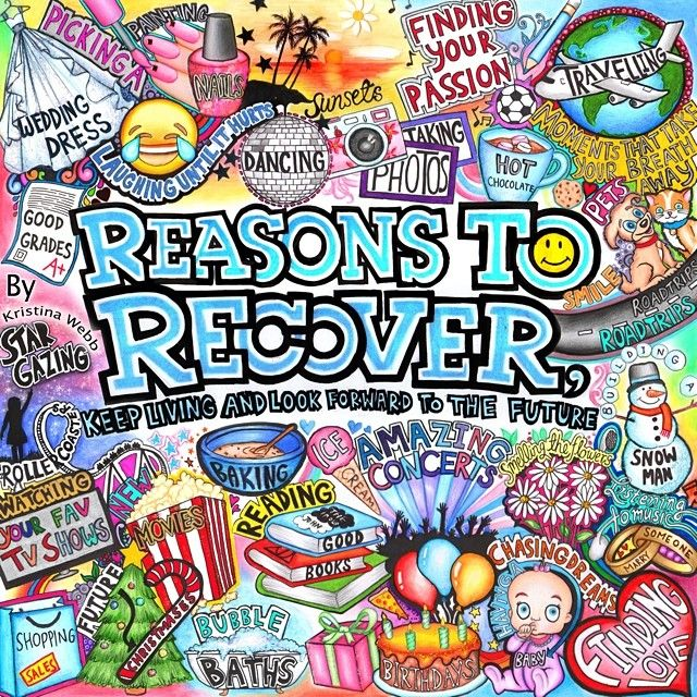 Another amazing Kristina Webb drawing  there's always a reason to recover :)