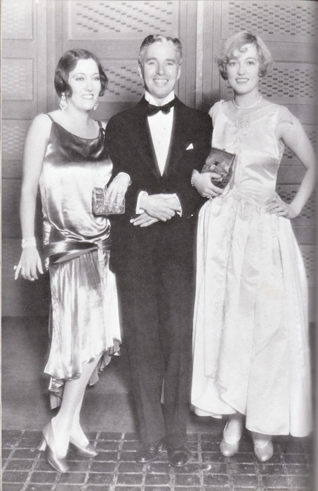 Charlie Chaplin,Gloria Swanson and Marion Davies...at a surprise party for Marion, 1928.