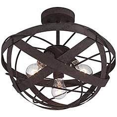 """Lamps Plus - Orbital Weave 15 3/4"""" Wide Rust Metal Ceiling Light - $199.99"""