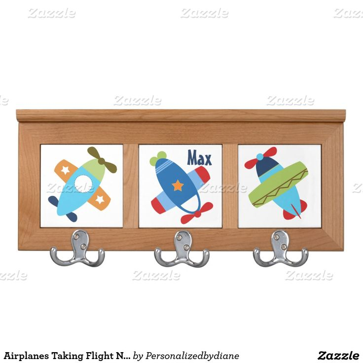 Airplanes Taking Flight Nursery Clothes Hanger Coat Rack