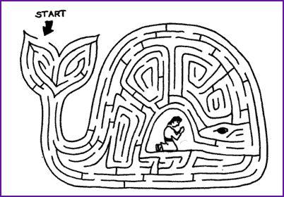 Maze And Story Jonah And Great Fish Kids Korner
