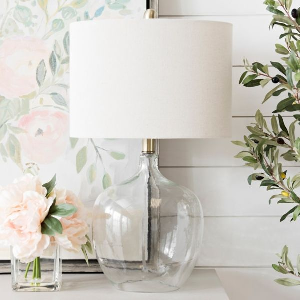 Aria Clear Glass Table Lamp From Kirkland S Clear Glass Table Lamp Table Lamps For Bedroom Table Lamps Living Room