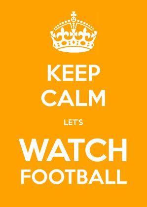 Keep Calm let's watch football - Uitnodigingen - Kaartje2go