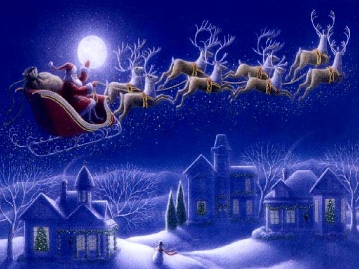 Santa Claus riding on an open sleigh with deer from the Lapland - http://www.xflip.com/digital-magazine-software.html