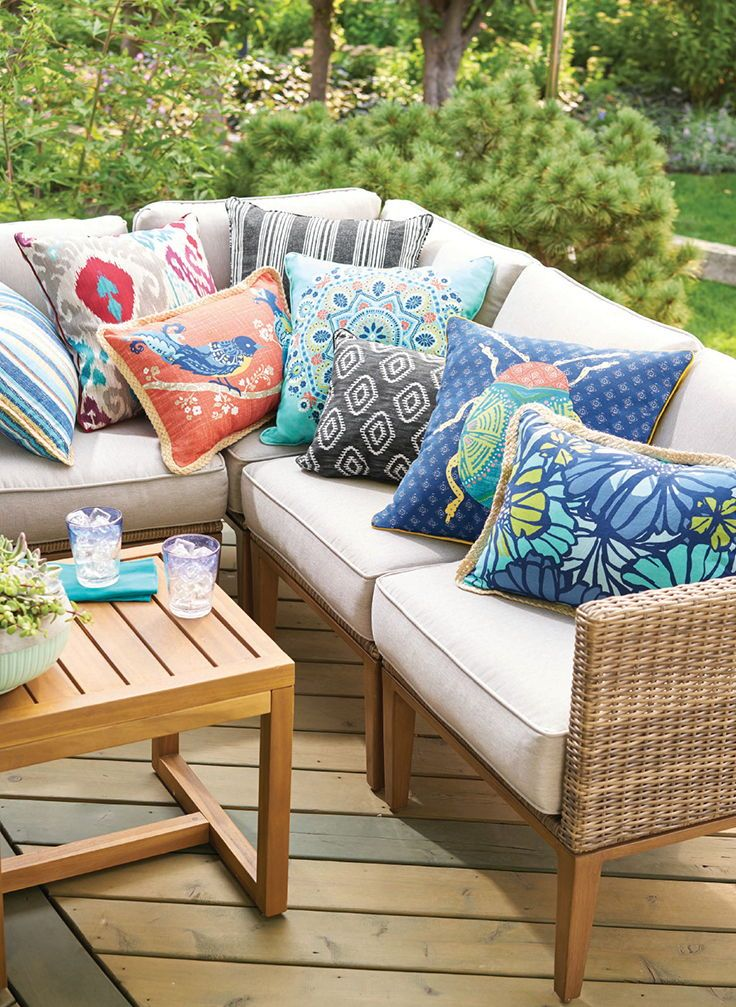 Better Homes Gardens At Walmart Outdoor Pillows Patio Deck
