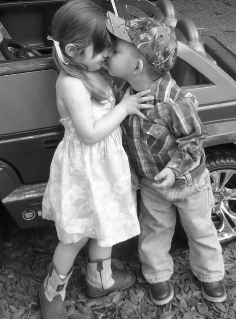 : Picture, Kiss, Sweet, Country Girl, Baby, Young Love, Kids, Photography
