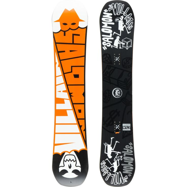 "And my first snowboard is... The Salomon Villain 155"". I was pleasantly surprised of the orange bottom. The images showed gold, which is actually the 153""."