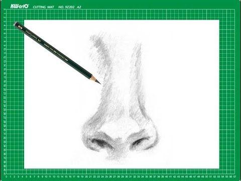 "CURSO de dibujo a lápiz Cap. 10 ""La nariz de frente"""