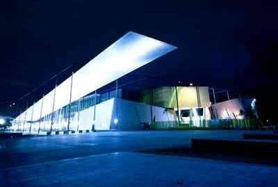 Melbourne Museum at night