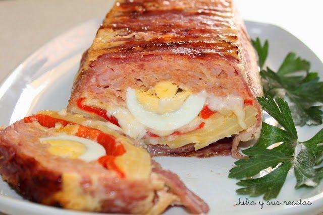 Carne, tortilla, pastel de carne y tortilla, Julia y sus recetas, pastel