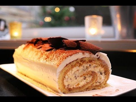 Recette de fêtes : la bûche tiramisu par Hervé Cuisine