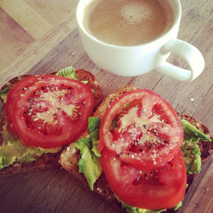 Keeping it simple today! Using leftovers to make Avo & Tomato with Cracked Pepper on Toast - @12wbt inspired Breaky
