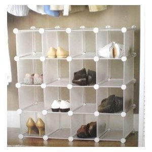 Interlocking Shoe Organizer Shoe Rack Storage 16 Pairs