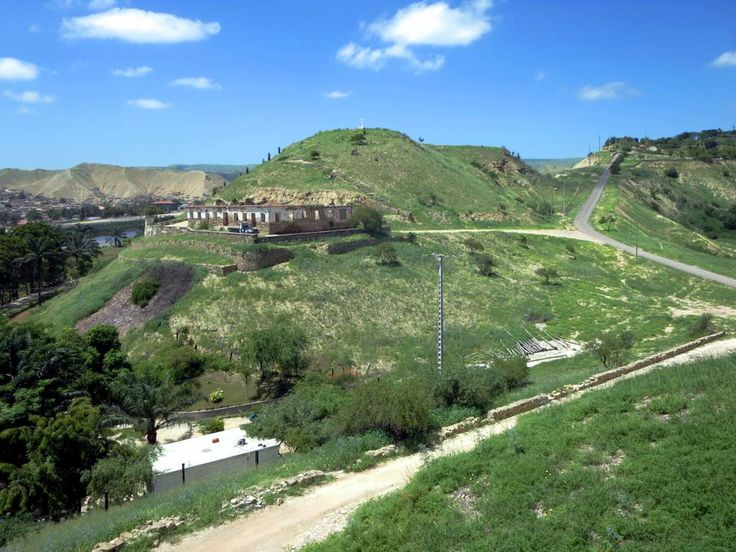 Picturesque hills overlook the Catumbela River northeast of Benguela, Angola.