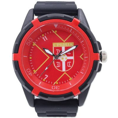 Serbia National Football Team Jerssy Design Souvenirs quartz watch Silicone Wristwatch
