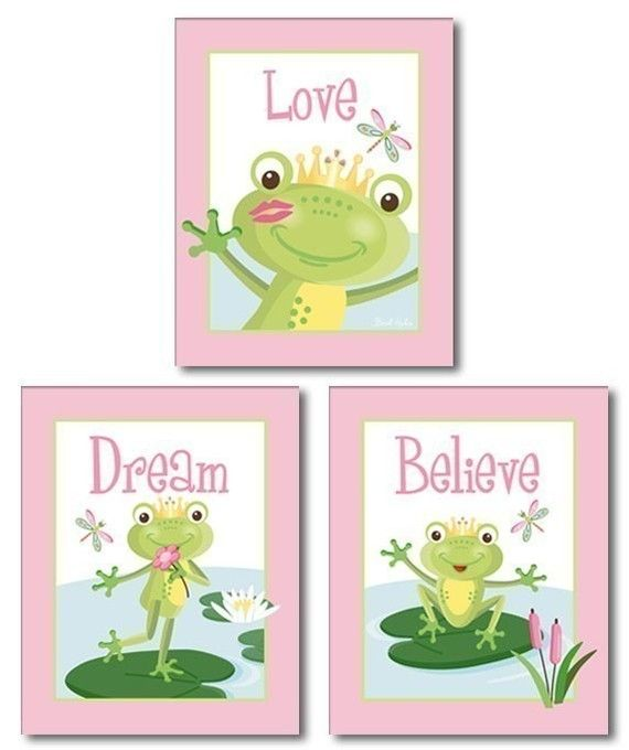 Set+of+3+Art+Prints+Fairy+Tales+Frog+Prince+by+smileywalls+on+Etsy,+$18.90