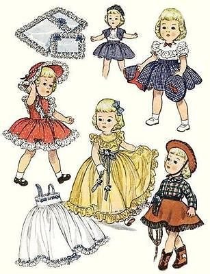 Vintage-Doll-Clothes-Pattern-3729-size-14-or-19-Toni-Cowgirl-Outfit