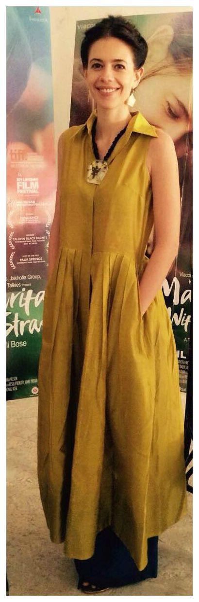 Kalki Koechlin in payalkhandwala Cotton Silk Pleated Shirt Dress
