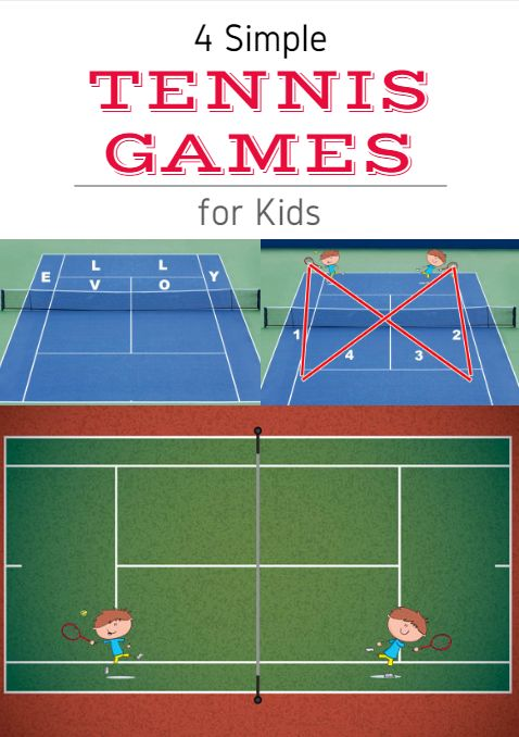 Whether you're an avid fan or completely new to the game, these fun tennis drills will help develop your ability to serve, volley and hit accurate forehand and backhand groundstrokes. So find a friend, grab a couple of rackets, crack open a fresh canister of tennis balls and hit the court. 4 Simple Tennis Games for Kids http://www.activekids.com/tennis/articles/4-simple-tennis-games-for-kids?cmp=17N-PB34-S14-T1---1073