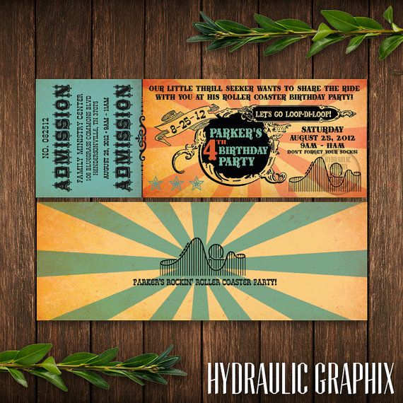 Six Flags or Theme Park Ticket Invitation by HydraulicGraphix