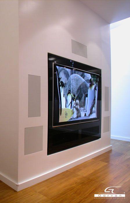 Casse acustiche incasso muro per spazio living _ Flush mount in-wall speakers for living space