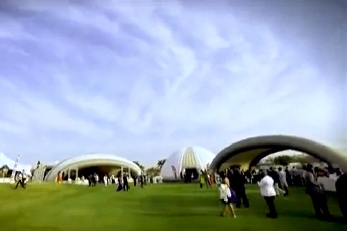 Introducing the AirVillage - instant, awesome space for 2000 party people!