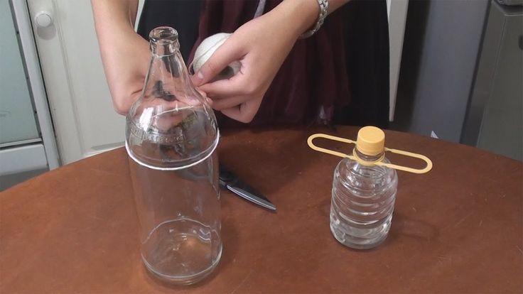 C mo cortar botella con hilo en 3 minutos cellegrini for Cortar cristal para gatera